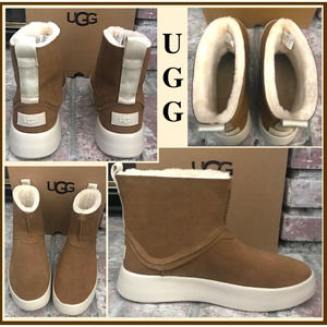 UGG Boom  Suede Sheepskin Ankle Boots US SIZE 10